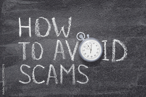 how to avoid scams watch