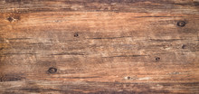Rough Wood Texture Background,  Weathered Brown Knotted Table With Nature Pattern