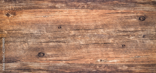 Fotografiet  Brown rustic rough wood for backdrop
