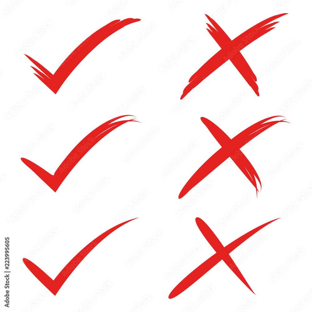GamesAgeddon - Stock - red check mark, check symbol, cross mark