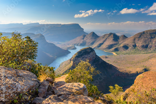 Foto op Plexiglas Zuid Afrika Aerial of Blyde River Canyon Three Rondavels - South Africa