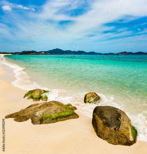 Foto op Aluminium Blauw White sand beach. Vietnam