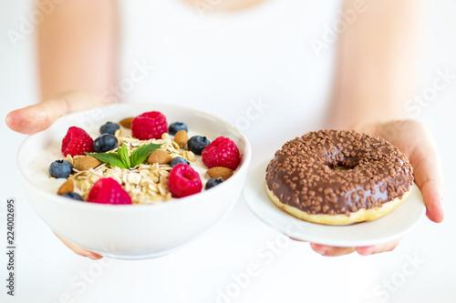 gesunde Ernährung, abnehmen, Übergewicht, gesundes Frühstück