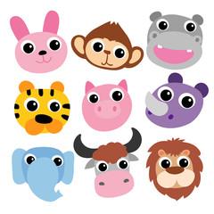 animals  head vector design
