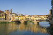 Beautiful view on the Ponte Veccio in Florence, Italy