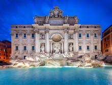 Trevi Fountain At Sunrise, Rom...