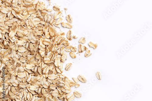 Oat flakes. Pattern of oat flakes. Hercules as background.. Canvas Print