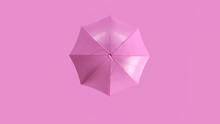 Pink Umbrella 3d Illustration