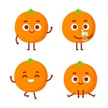 Cute Cartoon Orange Character