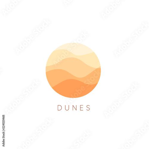 Fotografía Sand dunes vector icon