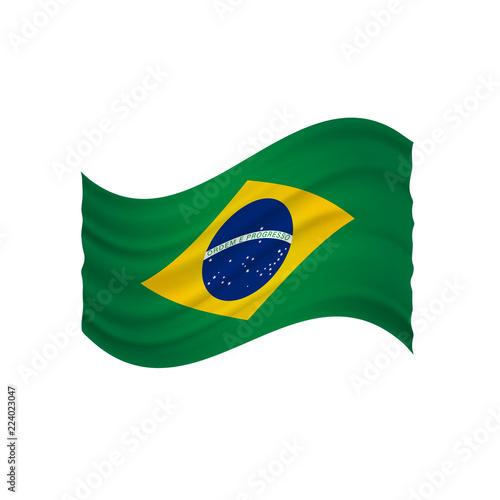 Foto  brazil undulating flag vector (bandeira do brasil)