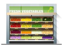 Fresh Vegetables For Sale Disp...