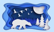 Polar Bear Is In The Winter Fo...