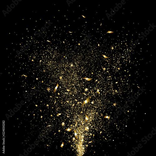 Fotografia, Obraz Festive Gold Confetti