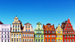 canvas print picture - Old color houses in Wroclaw, Poland
