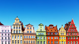 Old color houses in Wroclaw, Poland - 224032066