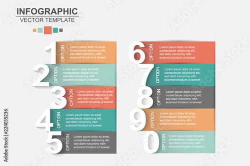 Photo  Timeline infographics design vector and marketing icons can be used for workflow layout, diagram, annual report, web design