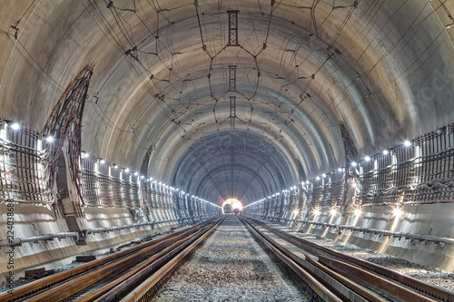 Modern railway tunnel Tableau sur Toile