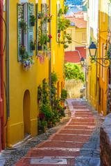 Fototapeta Uliczki Old town architecture of Menton on French Riviera