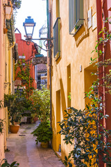 Panel Szklany Uliczki Old town architecture of Menton on French Riviera