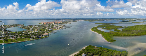 Fotografie, Obraz  Fort Pierce Florida Panorama from the Inlet