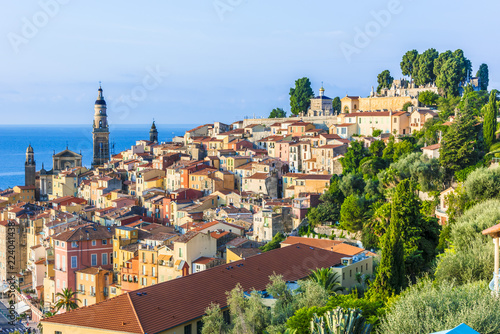 Cadres-photo bureau Milan Old town architecture of Menton on French Riviera