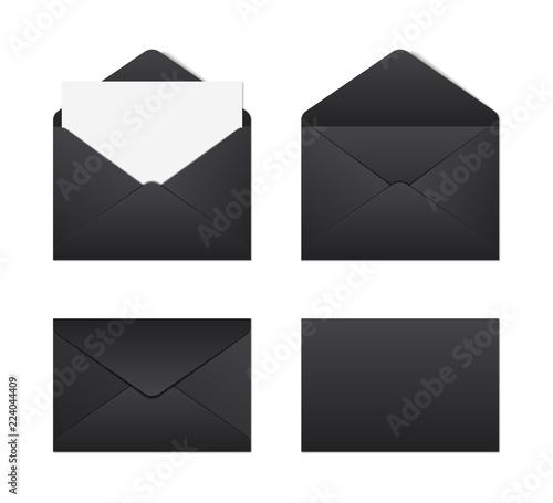 Fotografía Mockup realistic black envelopes