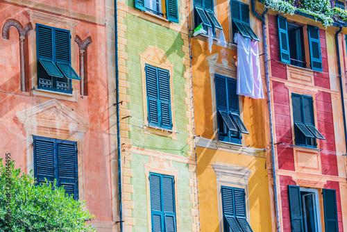 Picturesque fishing village Portofino, Liguria, Italy Fototapet