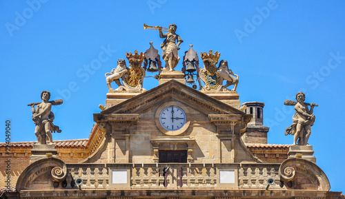 The town hall in spanish city, Pamplona, Navarra, Spain Canvas