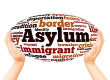 Asylum Word Cloud Hand Sphere ...