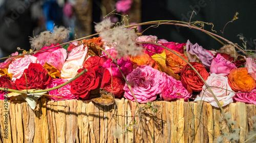 Foto op Canvas Bloemen Indoor floral arrangement at the Alden Biesen Castle, Hasselt, Belgium