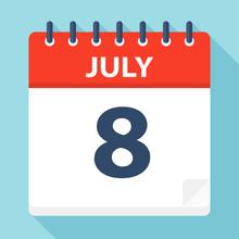 July 8 - Calendar Icon