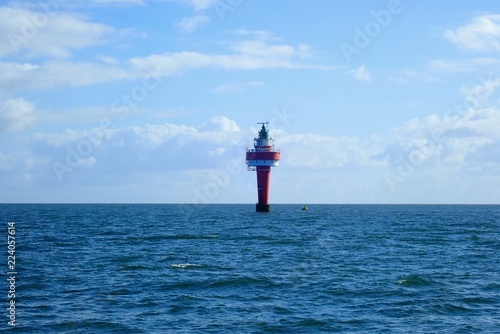 Der Leuchtturm Alte Weser in der Nordsee