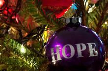 A Purple Bulb Christmas Orname...