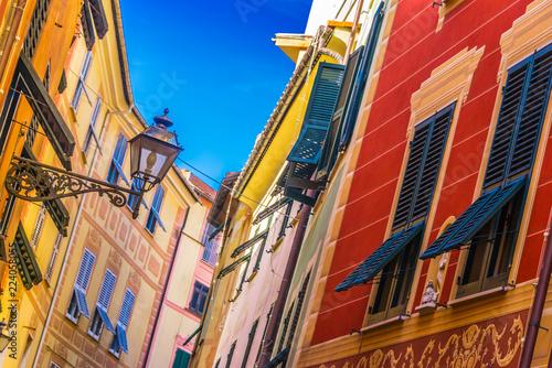 Fototapeta Architecture of Sestri Levante, Liguria, Italy