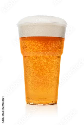 Fényképezés  Beer in a plastic cup