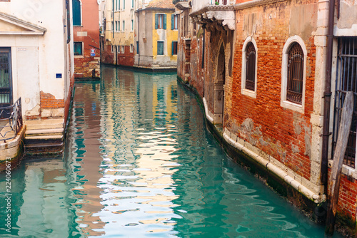 Poster Venetie Colourful and relaxing canal in Venice