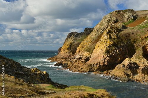 Keuken foto achterwand Kust Le Pulec, Jersey, U.K. Coastal landscape in Autumn.