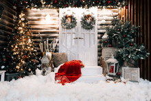 Merry Christmas And Happy New Year. Stylish Holiday Decor. Background For New Year Cards