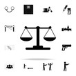 Libra icon. Crime icons universal set for web and mobile