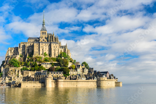 Mont Saint Michel abbey on the island, Normandy, Northern France, Europe Wallpaper Mural