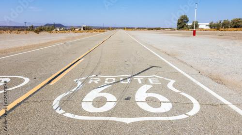 Keuken foto achterwand Verenigde Staten Route 66 in California desert