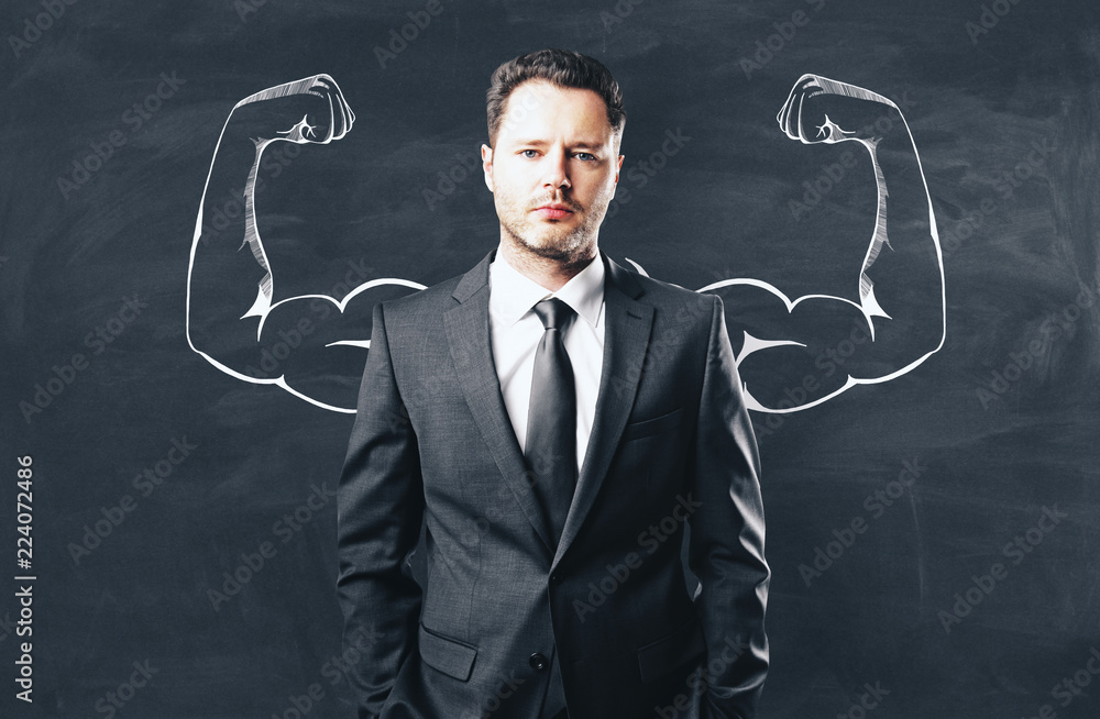Fototapeta Confidence and strength concept