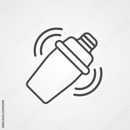 Fotografia  Shaker vector icon sign symbol