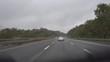 Fahrt auf einer deutschen Autobahn bei Regen