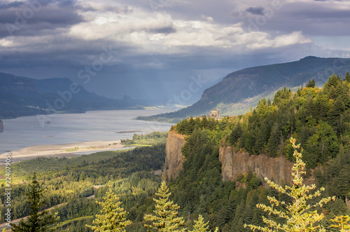 Photo  Dramatic skies in the Columbia River Gorge OR.