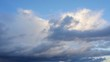 Clouds on the stormy sky. timelapse
