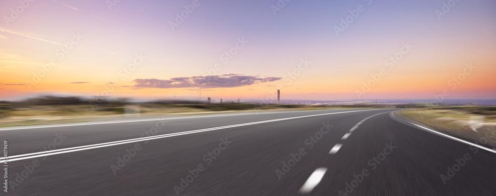 Fototapety, obrazy: empty highway through modern city