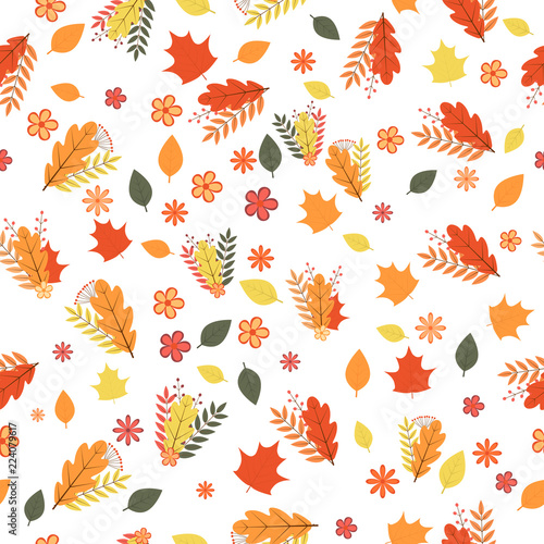 Foto  Autumn seamless pattern