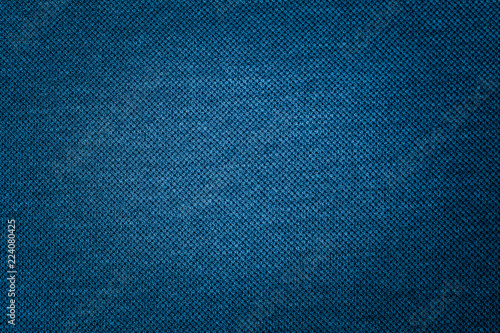 Fotobehang Stof Dark blue fabric texture of cloth that is structurally textile fabric fibers background use us space for text or image backdrop design